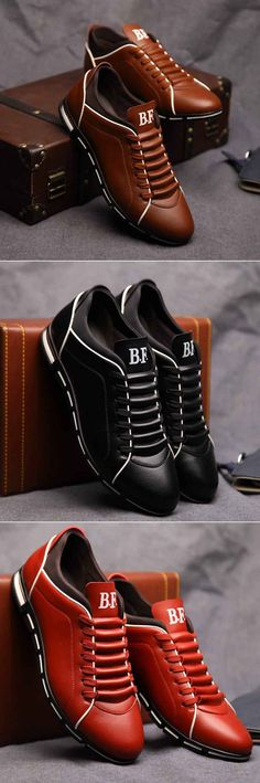 Men Large Size Microfiber British Style Sport Walking Casual Shoes