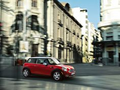 An antidote to dull days: MINI Hatch in Chili Red.