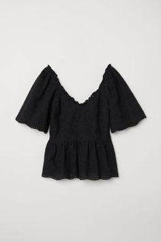 b8022fca009 Embroidered Cotton Top Dark Fashion