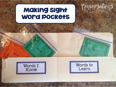 Awesome Word Pockets:  post on how to make these Word Pockets-can be adapted to lots of skills & easy to make!