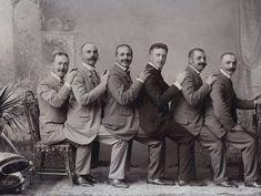 昔の紳士の集合写真 Vintage Group Men