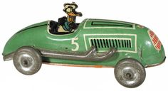 c.1940 Automatic Toy Co., Donald Duck Lightning Racer (metal wheels)
