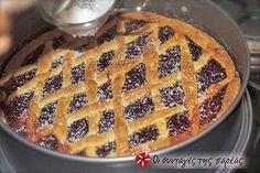 Πάστα Φλώρα Greek Sweets, Greek Desserts, Greek Recipes, Cookie Dough Pie, Cheesecake Tarts, Homemade Sweets, Cookies, Cheesecakes, Flora