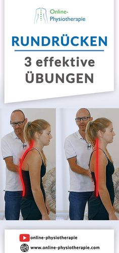 Rundrücken wegtrainieren: In diesem Beitrag zeigen wir drei intensive physiothe… Training the back of a curve: In this article we show three intensive physiotherapeutic exercises … Yoga Fitness, Fitness Workouts, Physical Fitness, Health Fitness, Dos Gras, Christian Daniel, Definition Of Health, Chest Muscles, Physical Therapy