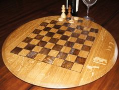 #Unique chess/checker board made from a #wine barrel