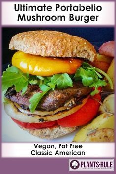 ... Sandwich on Pinterest   Portobello, Mushroom burger and Sandwiches