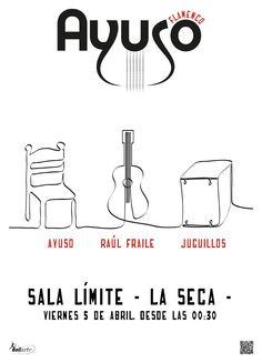 """Cartel concierto grupo flamenco """"Ayuso"""""""