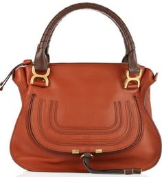 Chloé Marcie leather bag - whisky This Chloé bag has two handles with  twisted brown leather detail 3a040486f2da5