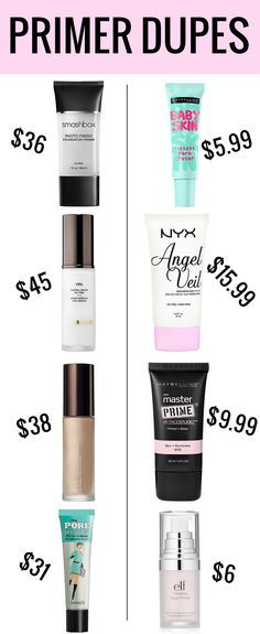 Why buy end when there are so many amazing makeup primer dupes? #beauty #makeup #dupes #beautyblogger #makeupblogger