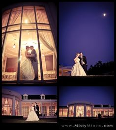 Night shots of bride and groom. Lake Mary Events Center. Shot by Orlando wedding photographer Misty Miotto