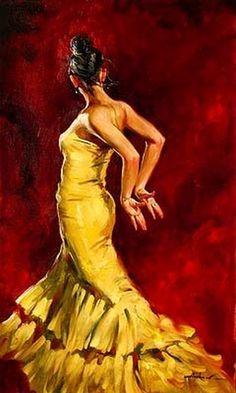 Flamenco Dancer by ANDREW ATROSHENKO