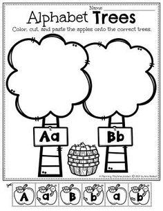 Apple Tree Alphabet Letter Sort - Apple Worksheets Preschool