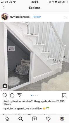 Dogs and puppies dog bed under stairs, diy wood dog bed, dog bed diy large, crochet dog bed, suit Under Stairs Dog House, Space Under Stairs, Dog Stairs, Under Stairs Playhouse, Wood Dog Bed, Diy Dog Bed, Dog Beds, Dog Room Decor, Dog Bedroom