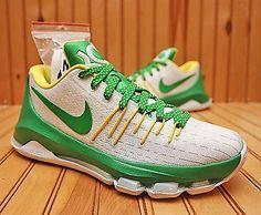 504bdead37c5 2016 Nike KD 8 Oregon Ducks Promo Size 6.5 -White Apple Green Yellow-SP16
