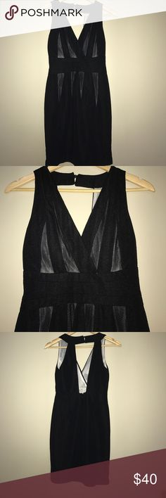 Black deep-v dress Sexy night out dress. Perfect for ant occasion. Brand new! Esley Dresses Midi