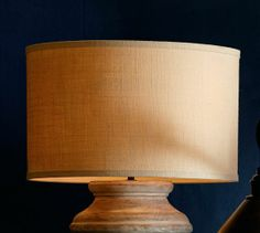 Burlap Drum Lamp Shade | Pottery Barn