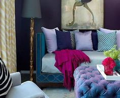 daybed jewel tone living room