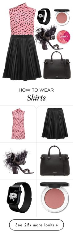 """""""Pink + Black"""" by cherieaustin on Polyvore featuring Marni, Prada and Burberry"""