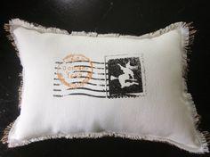 Halloween pillow witch decor burlap pillow