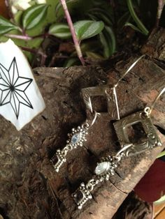 Artisan made solid sterling gemstone dangle earrings by ValerieKaganHandmade on Etsy