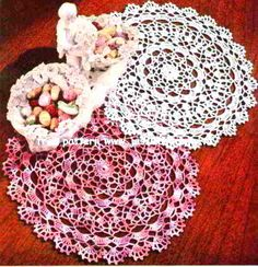 Shaded Pink & Lavender Doily    Star Doily Book No. 104  American Yarn Company  1953
