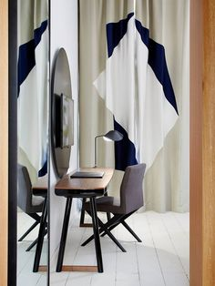 The new decoration of the Ministère hotel by François Champsaur with curtains using Le Manach fabrics !