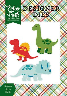 Echo Park - Dino Friends Collection - Designer Dies - Dinosaur Set 2