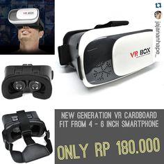 An awesome Virtual Reality pic! New Generation 3D VR Cardboard only 180.000! Limited Stock . Nikmati 3D Virtual Reality dari smartphone Anda. Cardboard ini terbuat dari bahan material plastik yang berkualitas untuk menopang smartphone dan dilengkapi dengan tali yang elastis agar dapat dikaitkan di kepala Anda sehingga lebih nyaman dan mudah. . Order langsung LINE: @jajananhape (pake @) BBM: 5505A310 ------- Trusted online shop only @jajananhape_ . #3D #3dcardboard #VR #vr6 #vrcardboard #3DVR…