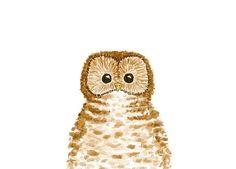 Owl Print by TreeHollowDesigns on Etsy, $12.00