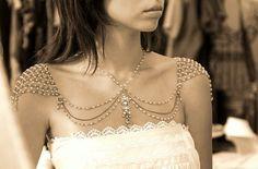 Butterfly - Shoulder and Necklace Piece!    # Butterfly, Vintage,Weddings, Jewelry  @Efrat Davidsohn efratdavidsohn