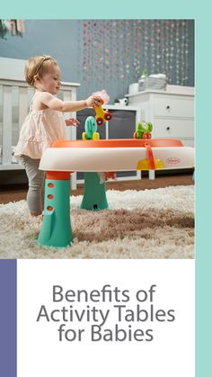 Activity tables can be a great asset to your home! Not only are they convenient and fun, but they provide tremendous benefits for both you and your little one. Baby Activity Table, Baby Activity Toys, Infant Activities, Baby Learning Toys, Baby Development, Baby Monitor, Everything Baby, Baby Feeding, Benefit
