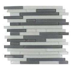 Glass mosaic tile, backsplash.  Would look great in a kitchen with purple accents.