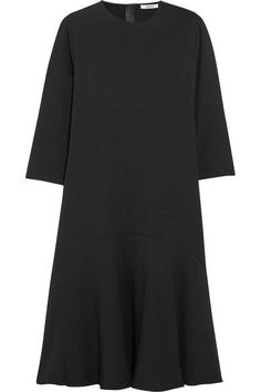 GANNI - Clark Crepe Dress - Black