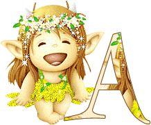 Alfabeto linda duendecita. | Oh my Alfabetos!
