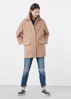 Manteau cocoon en laine | MANGO 60€