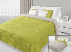 220x240 hellgrün grün limette pistaziengrün seladon green beige Tagesdecke Bettüberwurf Alisa zweiseitig: Amazon.de: Küche & Haushalt