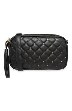 Black Studded Crossbody Bag