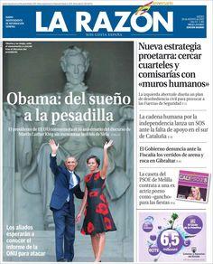 Los Titulares y Portadas de Noticias Destacadas Españolas del 29 de Agosto de 2013 del Diario La Razón ¿Que le pareció esta Portada de este Diario Español?