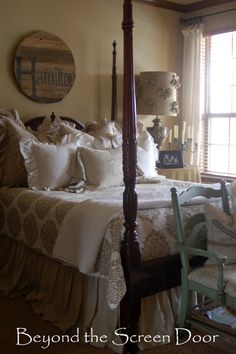 Love four poster beds... Beyond the Screen Door Master Bedroom (6)