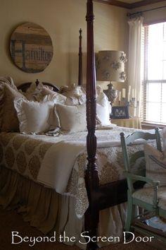 Love four poster beds... Beyond the Screen Door Master Bedroom (6)