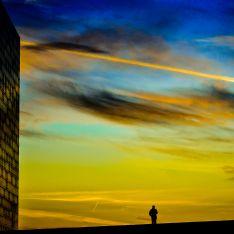 Oslo opera-house at sunset