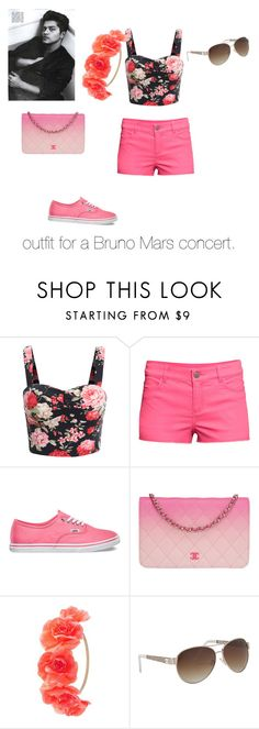 """outfit: Bruno Mars concert"" by iloveya-teenwolf ❤ liked on Polyvore featuring RHYTHM, H&M, Vans, Chanel, Charlotte Russe and maurices"