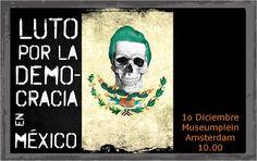 morena holanda, luto por la democracia en mexico