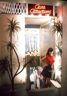 Jeanette Lee in Acme Attractions boutique, Kings Road 1976  Copyright Sheila Rock