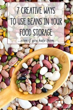 I HATE BEANS! But even I admit that it's time to incorporate them into my food storage and learn to use them in alternative ways that stretch the budget AND provide a healthy alternative for our family. 7 Creative Ways to Use Beans.even if you hate the Emergency Food Storage, Canned Food Storage, Food Storage Recipes, Prepper Food, Survival Food, Survival Prepping, Emergency Preparedness, Survival Skills, Wilderness Survival