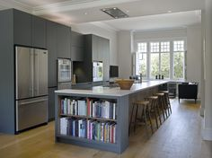 Roundhouse kitchens - shelves for cookery books