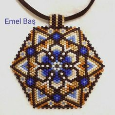 Hexagon pendant by Emel Bas from Turkey