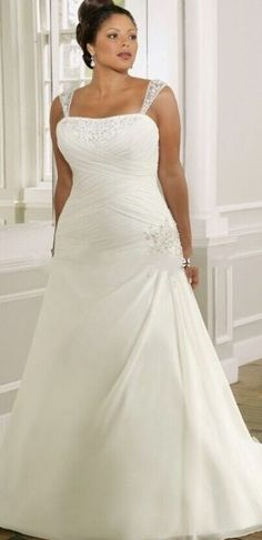 132492919 Plus Size Wedding Dress Delicate Lace Applique Dress With Spaghetti Straps  Wedding Dress Custom Size