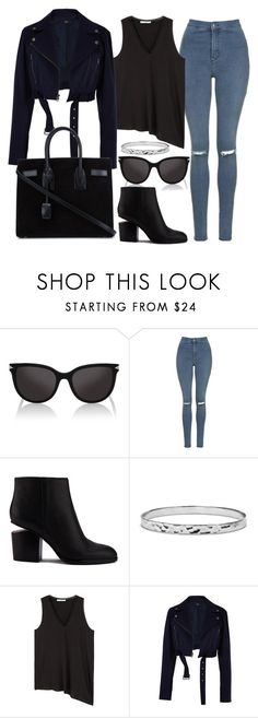 """""""Untitld#1474"""" by mihai-theodora ❤ liked on Polyvore featuring Karl Lagerfeld, Topshop, Alexander Wang, Blue Nile, MANGO, TIBI and Yves Saint Laurent"""