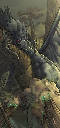 Black Dragon by Andrew Hoo, *nJoo on deviantART (one of my favourite fantasy artists)
